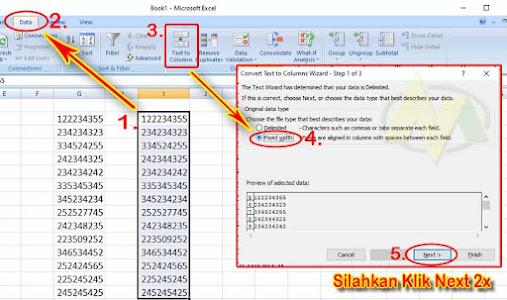 Cara Menambahkan Tanda Petik Otomatis Di Depan Angka Pada Kolom Ms Excel.