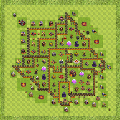 War Base Town Hall Level 10 By Shahpoor Mohammady (Kako TH 10 Layout)