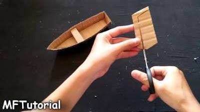 cara membuat kapal pinisi dari kardus