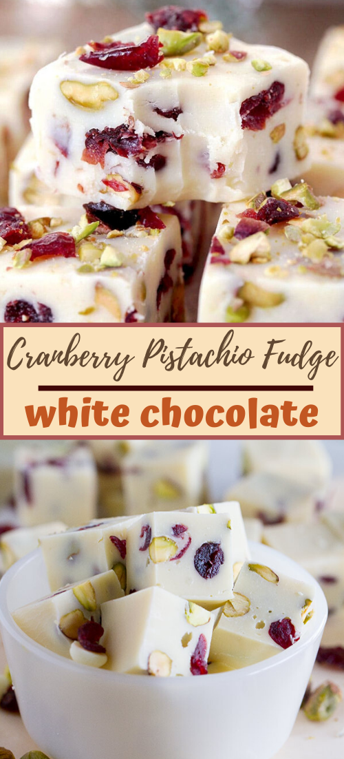 Cranberry Pistachio Fudge #desserts #cakerecipe #chocolate #fingerfood #easy