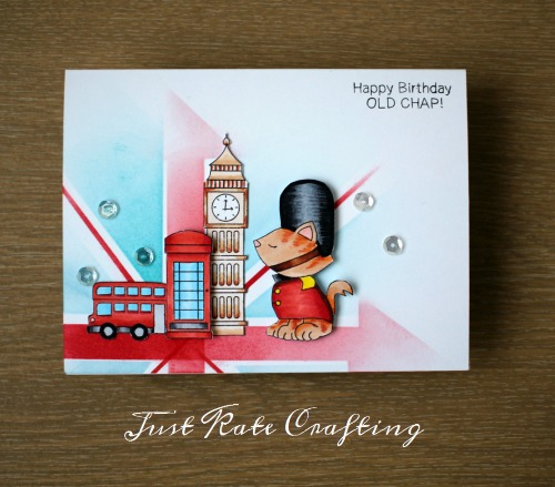 London Kitty card by Just Kate Crafting | Newton Dreams of London stamp set by Newton's Nook Designs #newtonsnook