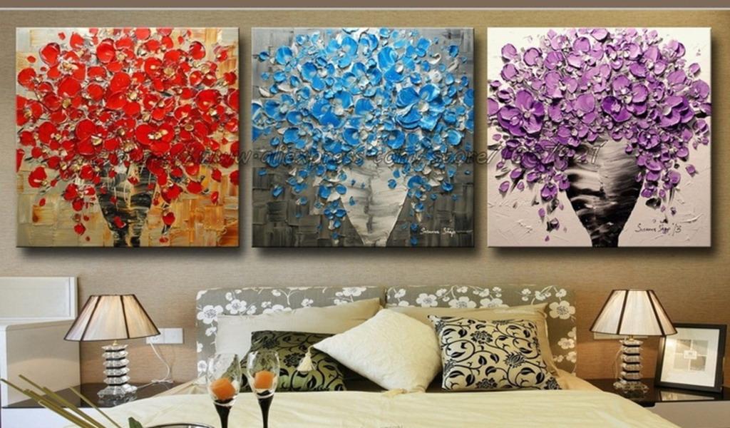 Im genes arte pinturas pinturas de flores al leo modernos - Pinturas modernas para sala ...
