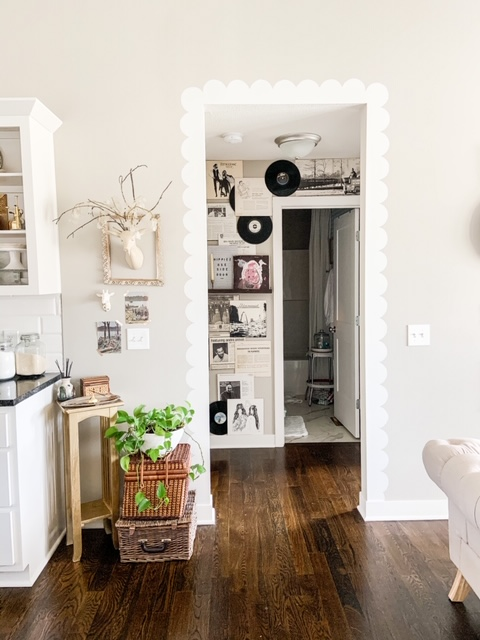 Paint a scallop trim around doorways