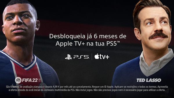 Jogadores da PlayStation®5 já podem desfrutar de 6 meses gratuitos de Apple TV+