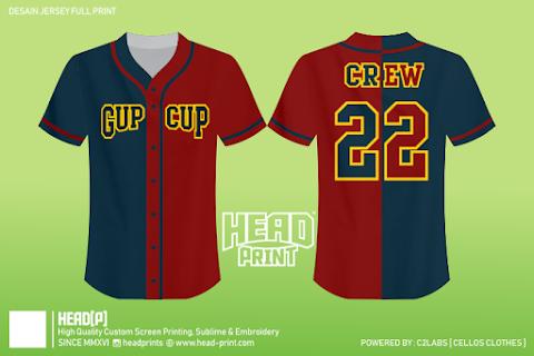 Crew 22 Contoh Desain Jersey Baseball Sablon n Printing - Head Print