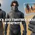 Zendaya Fortnite and Timothee Chalamet Fortnite with the new Dune skins fortnite