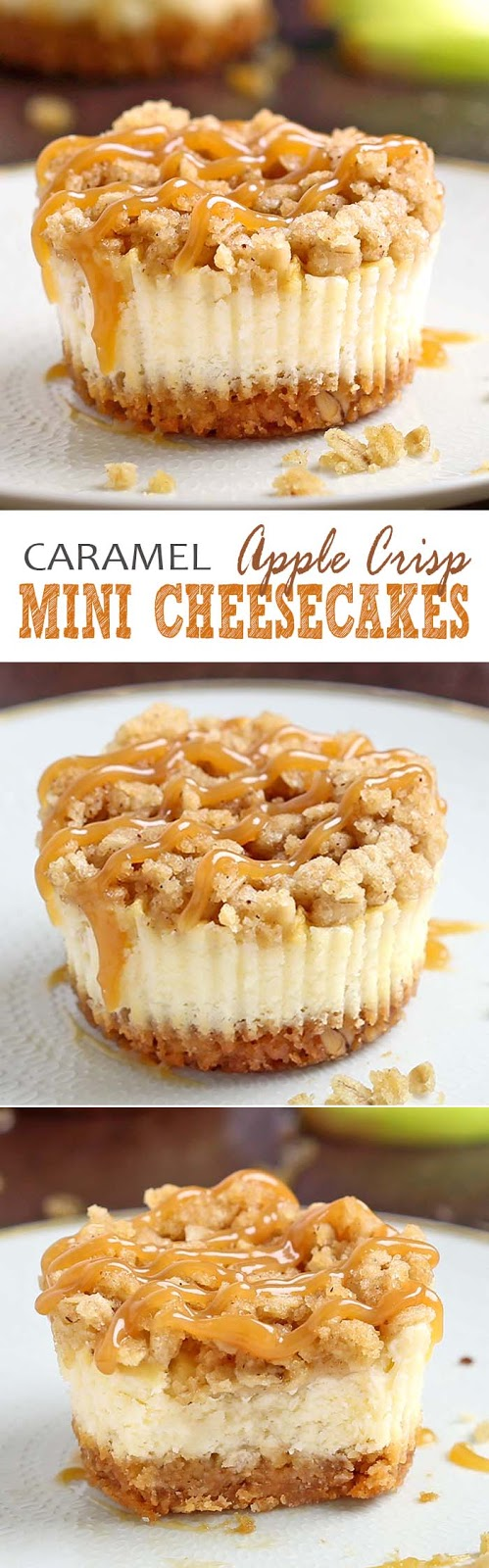 Caramel Apple Crisp Mini Cheesecakes Recipe