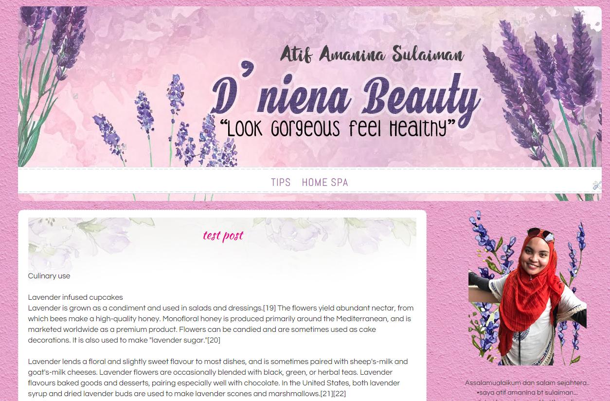 Atif Amanina Blog