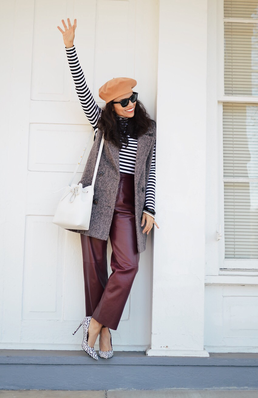 Stripes with leopard street style
