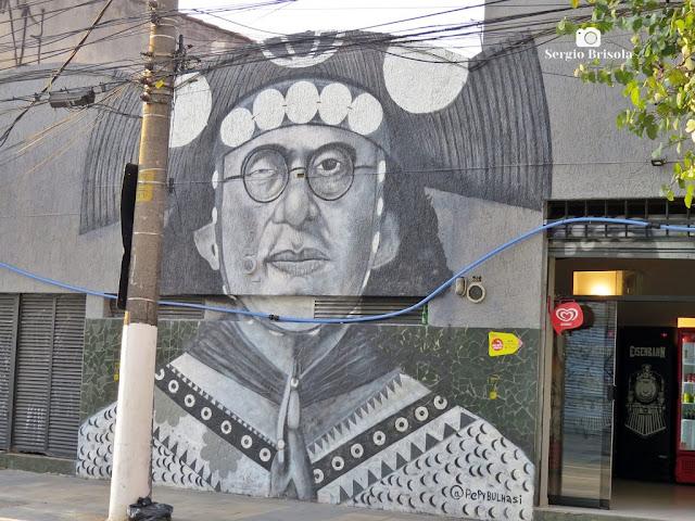 Close-up do Grafite Lampião - Pinheiros - São Paulo