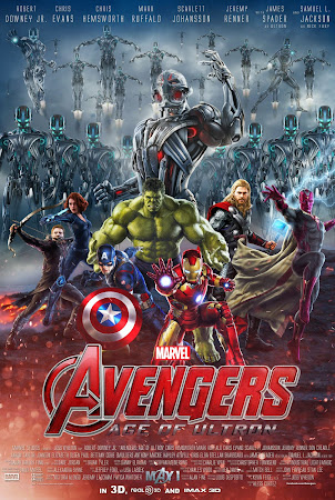 Poster Of Avengers Age of Ultron 2015 In Hindi Bluray 1080P HEVC Free Download
