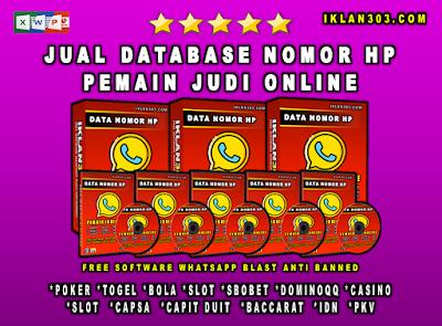 Jual Database Nomor HP Pemain Judi Bola Online