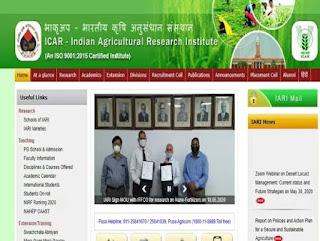 ICAR -IARI Sarkari Naukri 2020 Recruitment For Senior Research Fellow SRF And Unskilled Labour Posts | Sarkari Jobs Adda