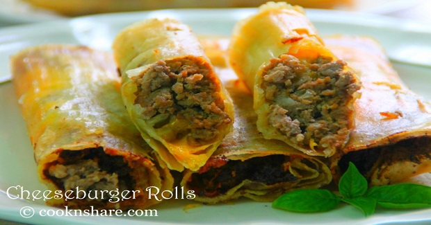 Cheeseburger Rolls Recipe