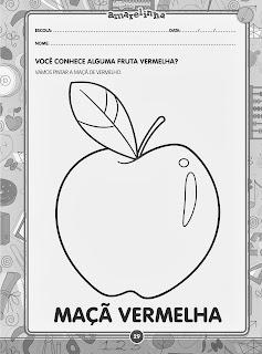 Vamos pintar a maçã de vermelho