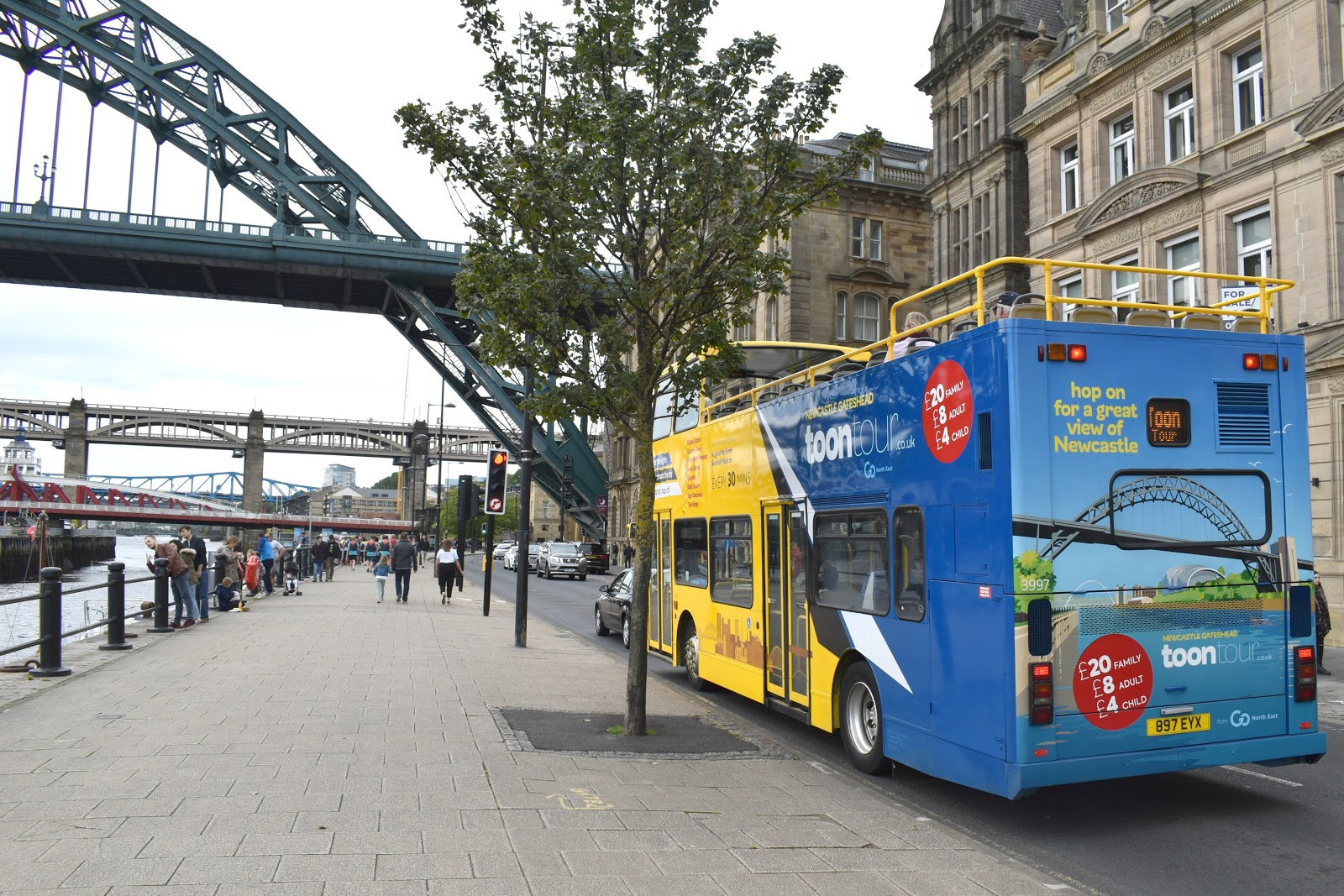 The Toon Tour - Exploring Newcastle and Gateshead on the Hop-on Hop-off Open Top Bus Tour