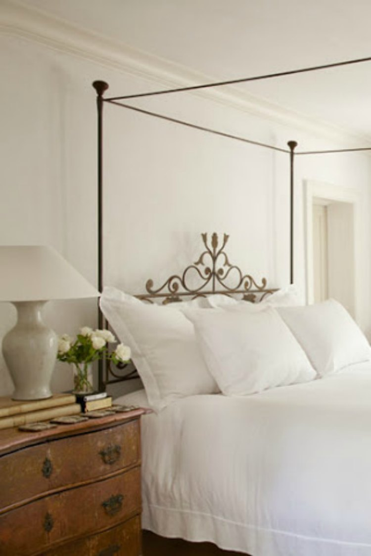 Elegant white bedroom by Pamela Pierce - found on Hello Lovely Studio