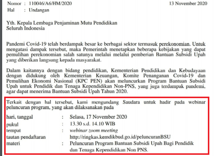 gambar bantuan subsidi upah untuk GTK