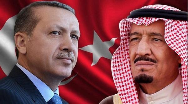 أردوغان يتصل بالعاهل السعودي سلمان بن عبد العزيز