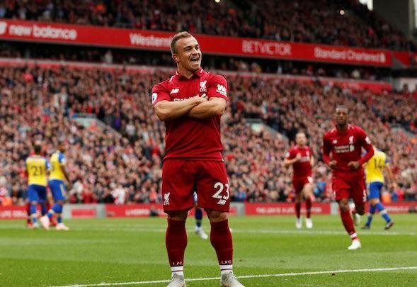 Il boss del Liverpool Klopp afferma che  Xherdan Shaqiri ha un fisico diverso da qualsiasi altro giocatore