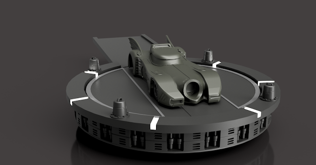 Batman Diorama 3D print model - The Platform render