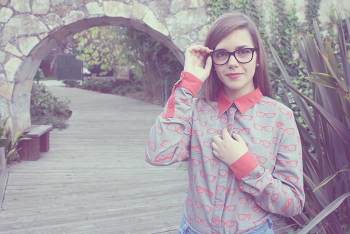 Camisa handmade estampado gafas