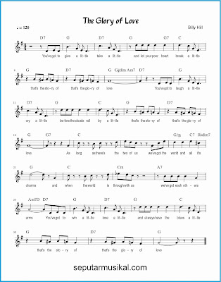 the glory of love lagu jazz standar