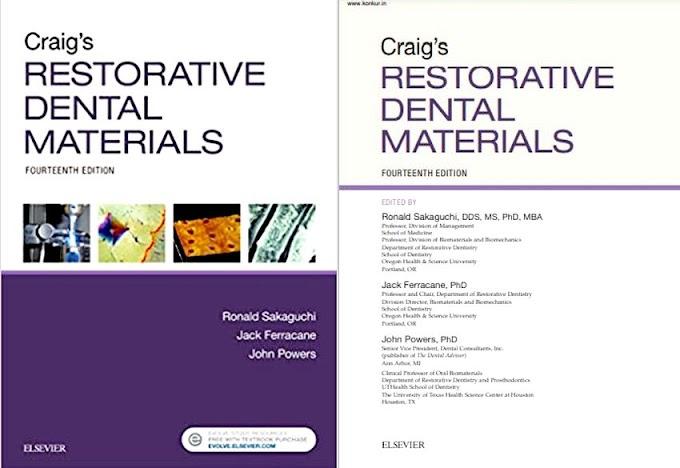 DENTAL BOOKS: Craig's Restorative Dental Materials - Ronald L. Sakaguchi - 2018