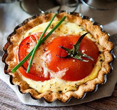 Tomato Tart Recipe #vegetarian #baking