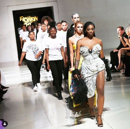 Wow! Tiwa Savage Walks The Runway At Naomi Campbell's 'Fashion For Relief' Event In London (Photos)