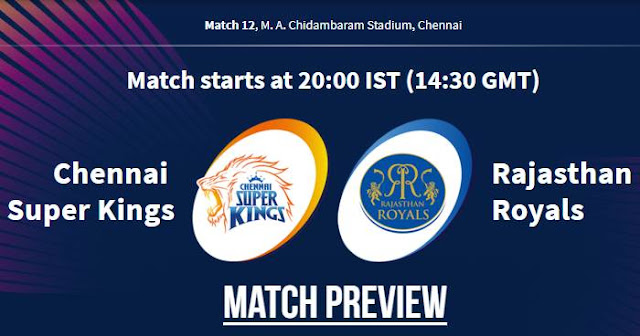VIVO IPL 2019 Match 12 CSK vs RR Match Preview, Head to Head and Trivia