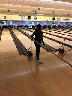 Monique Melton readies herself at bowling rail