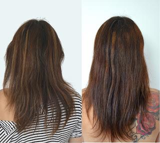 Test coloration Biocoiff - Avant et après