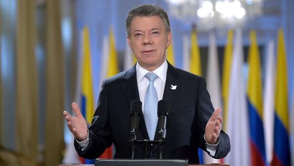 Presidente Santos proclama una nueva era para Colombia, en paz