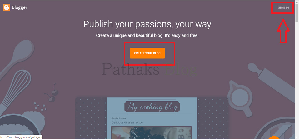 How To Upload Custom Template To Blogger, sign to your blogger account, anil pathak, pathaks blog