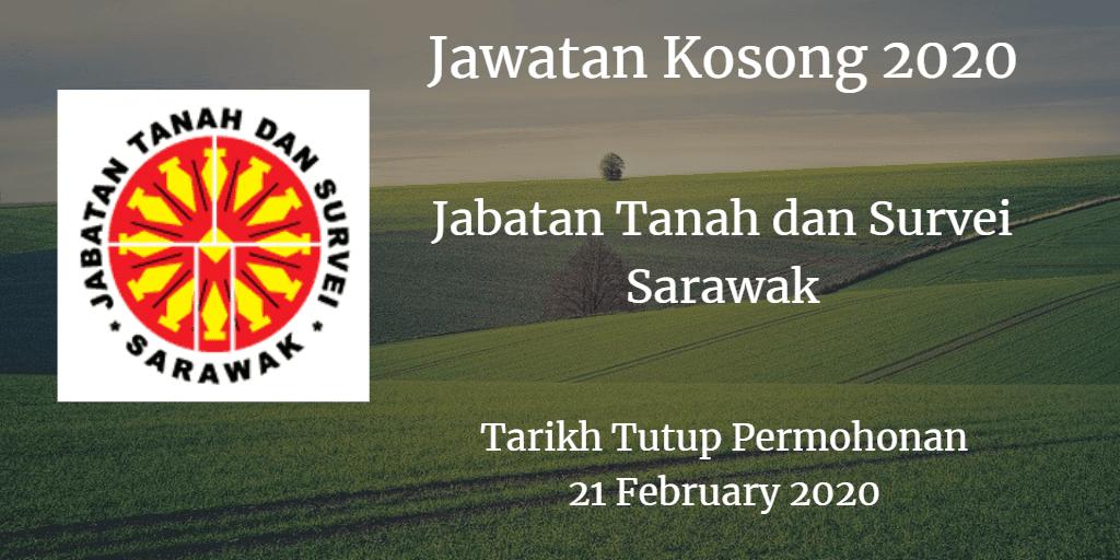 Jawatan Kosong Jabatan Tanah dan Survei Sarawak 21 February 2020