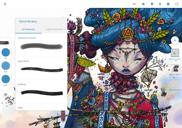 تنزيل-افضل-تطبيق-Photoshop-Sketch-انشاء-رسومات-للاندرويد