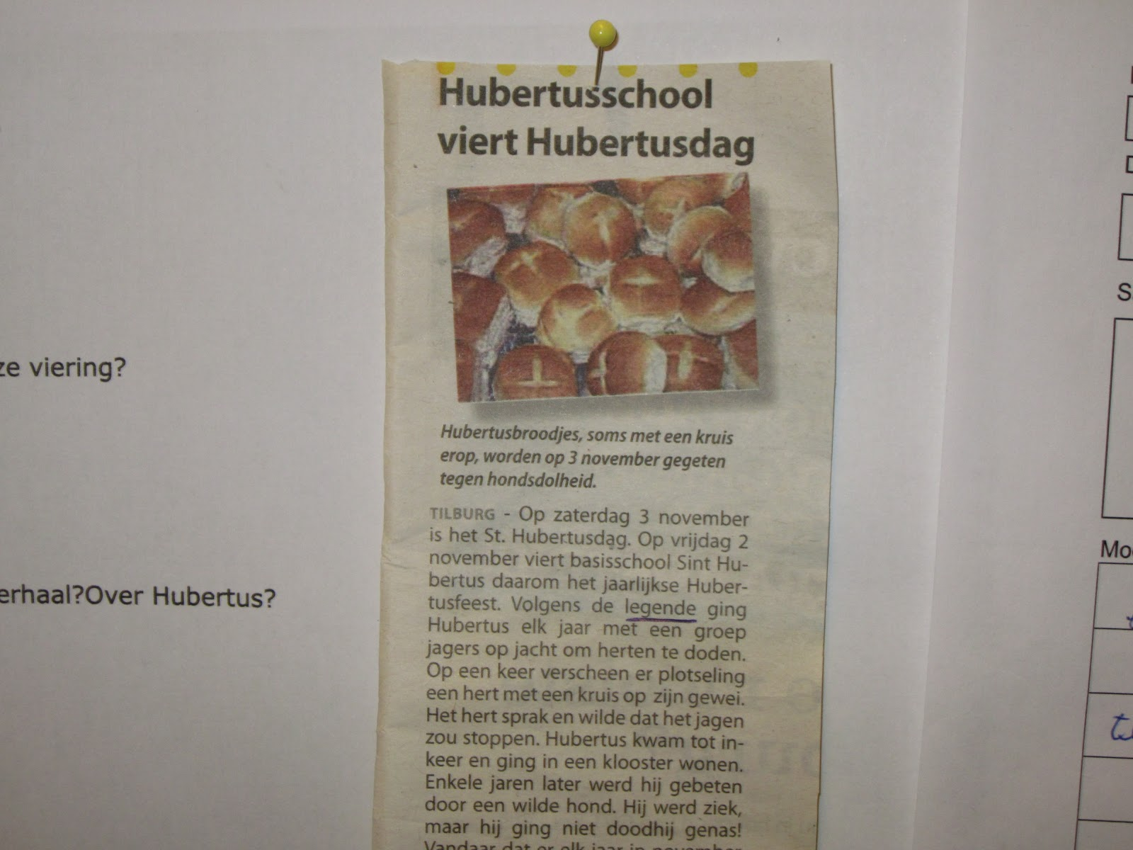 Beroemd Krantenkring - muurkrant   Groep 5 b bs Fatima JX31