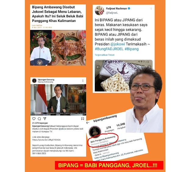 Jubir Presiden Fadjroel Rachman NGELES Bipang Yang Dimaksud Jokowi Bukan Babi Panggang Tapi Kue Jipang dari Beras, Dikira Publik B0doh?