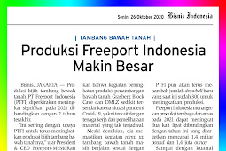 Freeport Indonesia's Production Increases