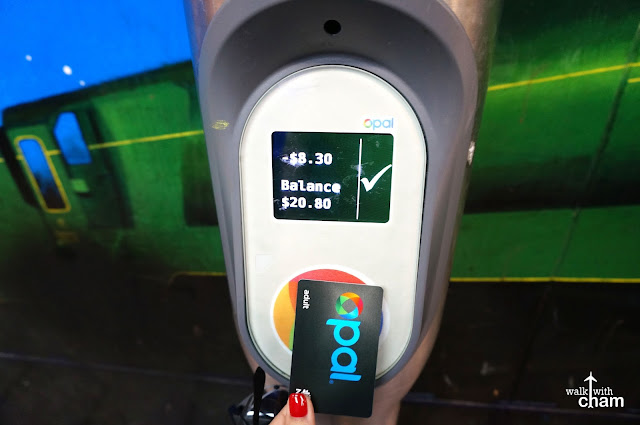 how to use opal card at train syations