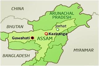Kaziranga National Park Map