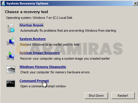 Memperbaiki Masalah Bootloader di Windows - system recovery options