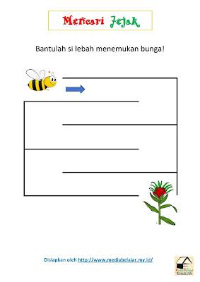 Mencari Jejak: Bantulah Lebah Menemukan Bunga!