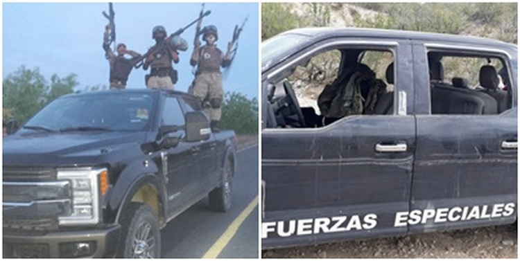 Sicarios del Cártel del Noreste sigue clonando trocas de Policía Estatal, Fuerzas Especiales y Militares en Nuevo León
