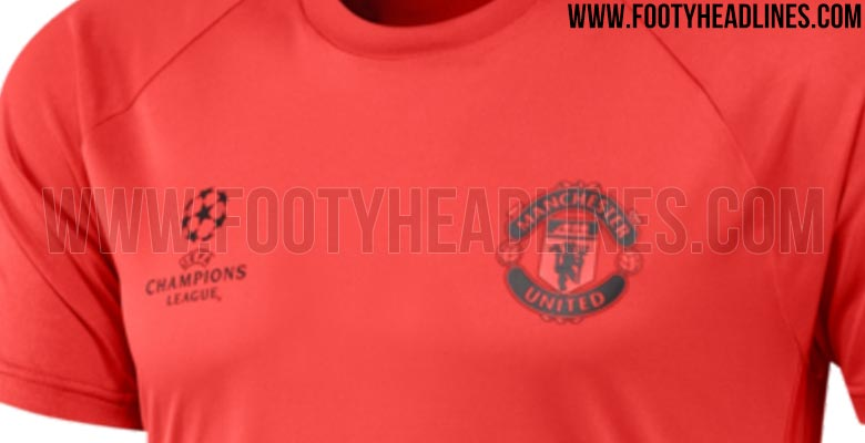 Manchester United 2016-17 Champions League Training Shirt Leaked ... 8a050abd3