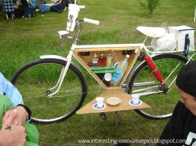 Innovation: Picnic bicycle Modified to hold eatables drinking items