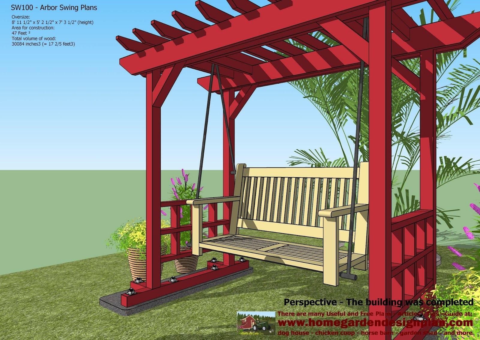 Designer Hollywoodschaukel For Chick Coop Sw100 Arbor Swing Plans Swing Woodworking