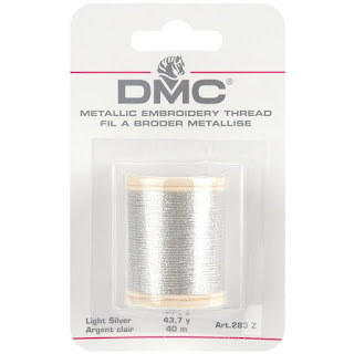 DMC Metallic SILVER Embroidery Thread