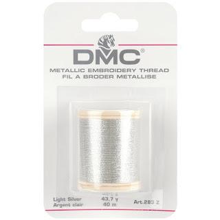 DMC Metallic SILVER Embroidery Thread